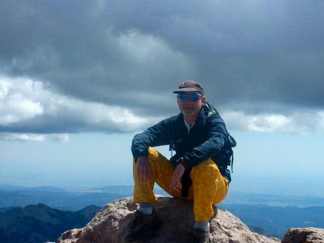 Alan on Longs Peak summit...