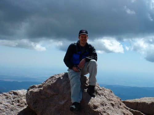 Me on the Longs Peak summit...