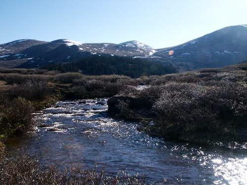 Scott Gomer Creek running...