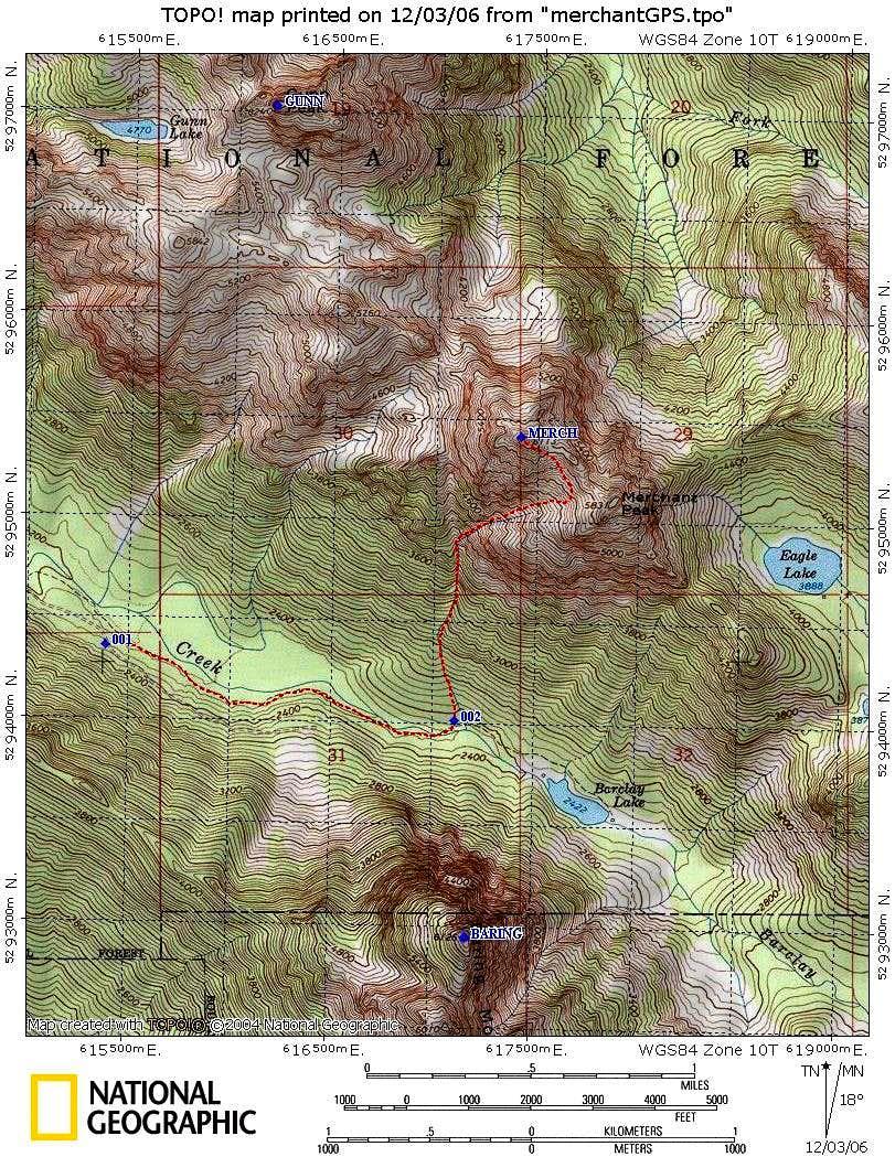 Merchant Pk South Gully GPS route