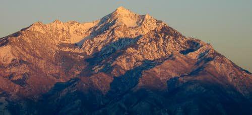 Alpenglow on Twin Peaks