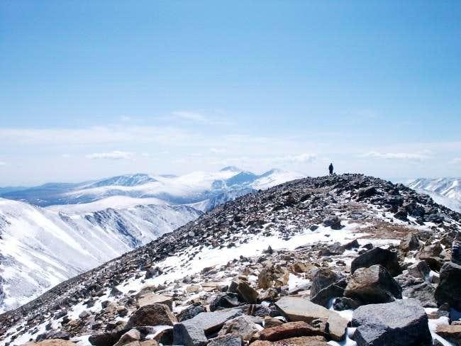 The summit of Grays Peak with...