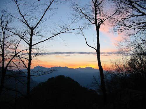 View on Prenj from Tise mountain hut