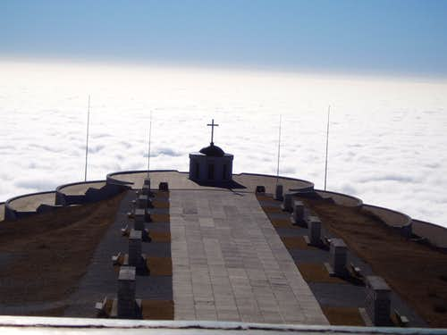 From Monte Grappa looking towords Venice (under the clouds)