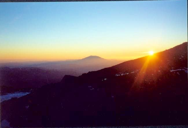 Sunset at lunch counter Mt....
