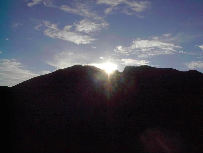 The sun rises over Notch...