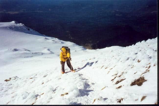 Last jaunt on zig zag to Mt....