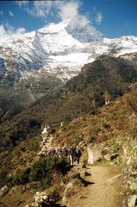 West from Namche