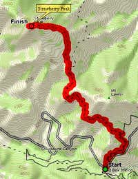 Topo Map: Red Box to...