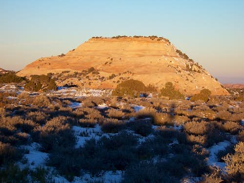 Aztec Butte from the east