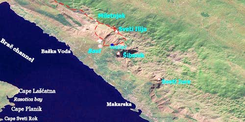 Biokovo -satellite view