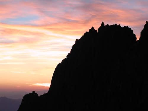Temple Crag at sunrise