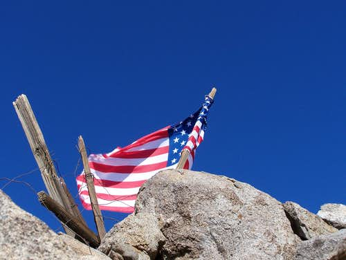Flag on Mount Wilson