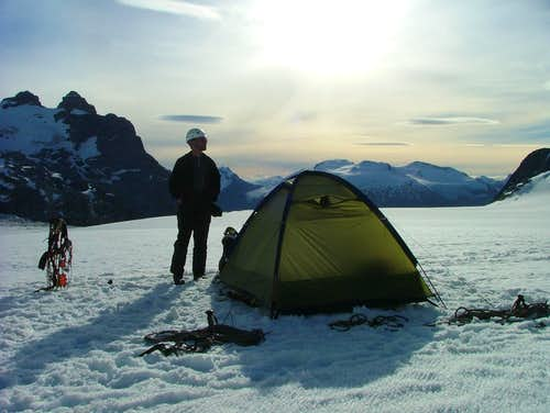 Camp2 at Cerro San Lorenzo, Patagonia