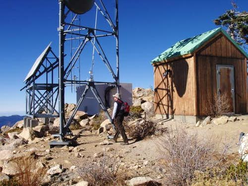 Misc. radio towers/equipment on Sherman Peak