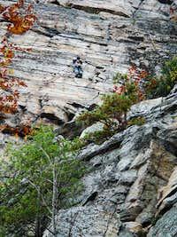 Climbing in the Shawangunk Mountains