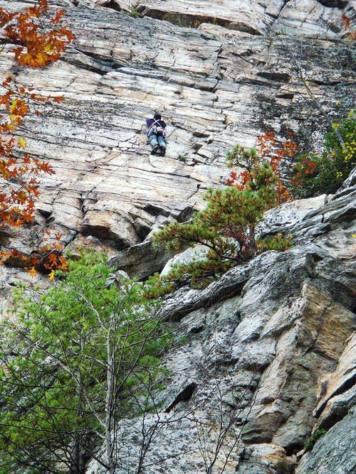 Climbing in the Shawangunk Mountains