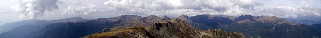 Summit Panorama Königsangerspitze: Sarntal Alps