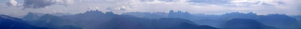 Summit Panorama Königsangerspitze: Western Dolomites