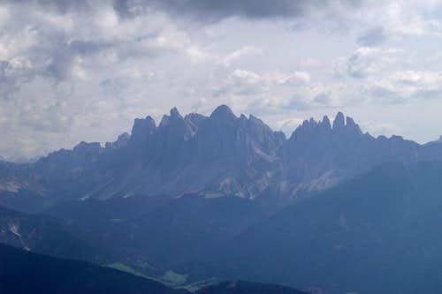 Summit view Königsanger Spitze: Geisler Group