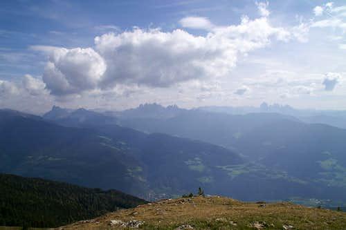 Summit view Königsanger Spitze: Western Dolomites