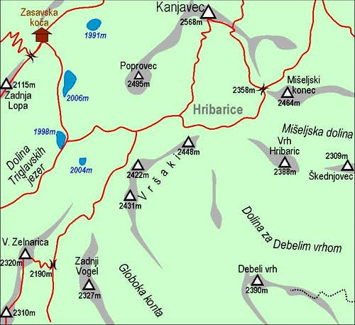 Vrsaki map