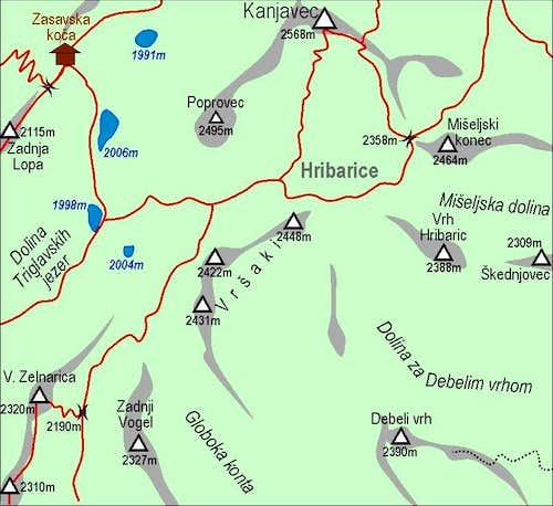 Vrsaki map