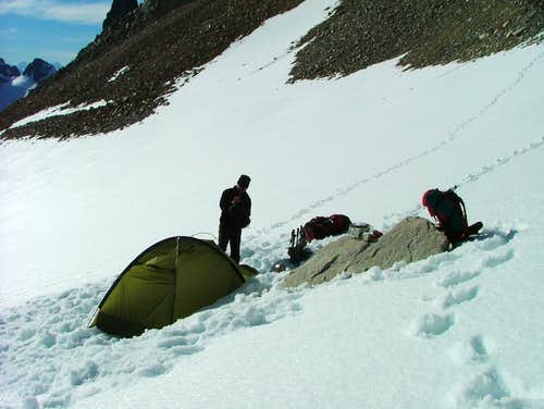 Camp1 at Cerro San Lorenzo normalroute