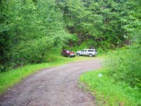 TH parking for Purcell Mtn