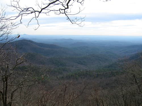 Springer Mountain Overlook in winter