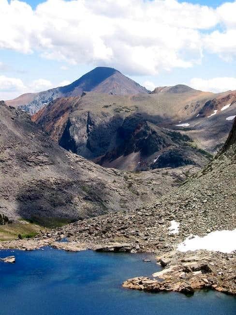 Dunderberg Peak dominates the...