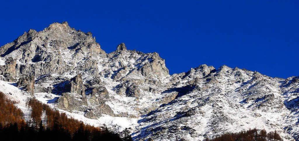 La Grivola (3969 m), versante ovest