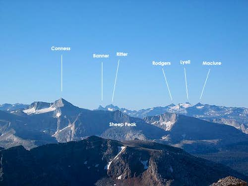 Mount Conness is the star...