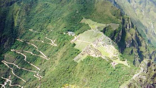 View of Machu Picchu from the...
