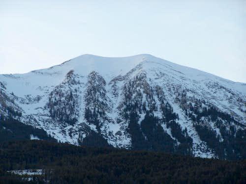 Saddle Peak, East view