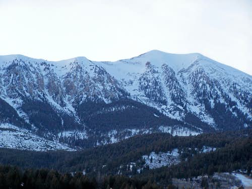 Saddle Peak, from ESE