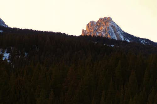 Ross Peak alpenglow