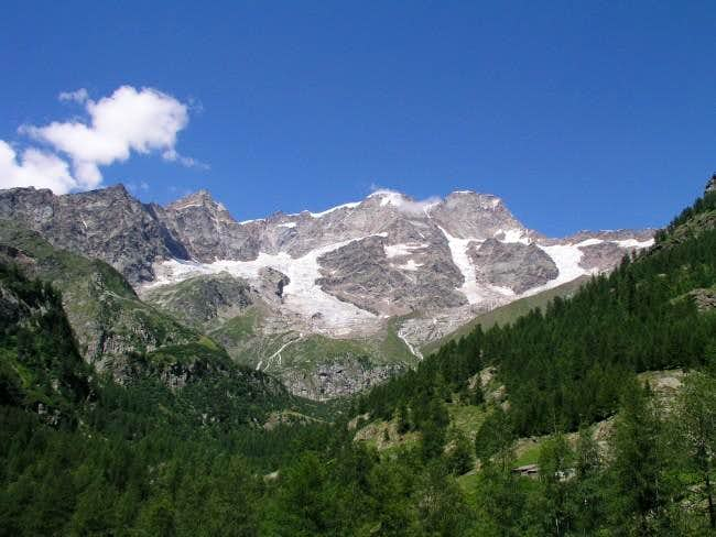 Monta Rosa south face from...