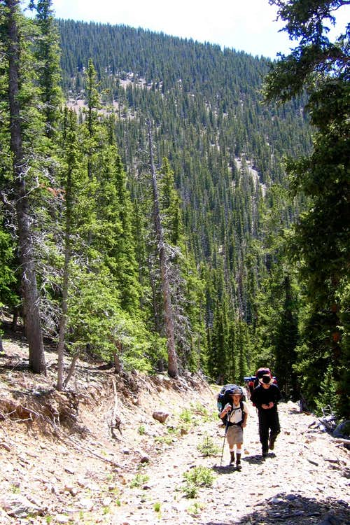 Hiking Out of Greenwood Canyon