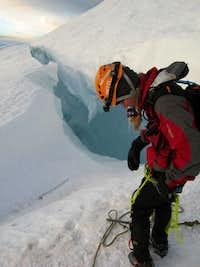 Preparing to jump the crevasse
