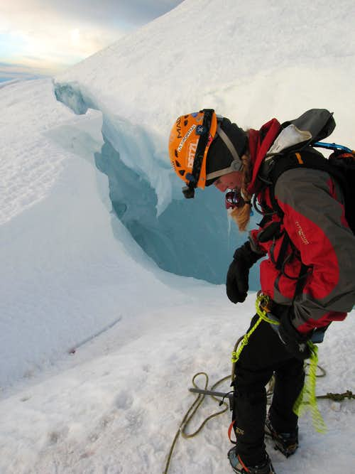 Preparing to jump the crevasse