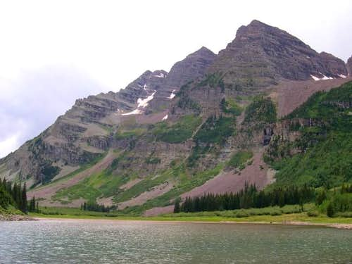 The Maroon Bells from Crater...