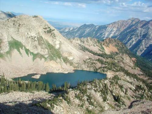 White Pine Lake from the top...