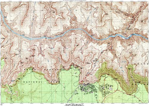 Tonto Plateau Map
