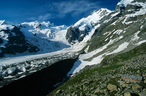 Piz Bernina north side