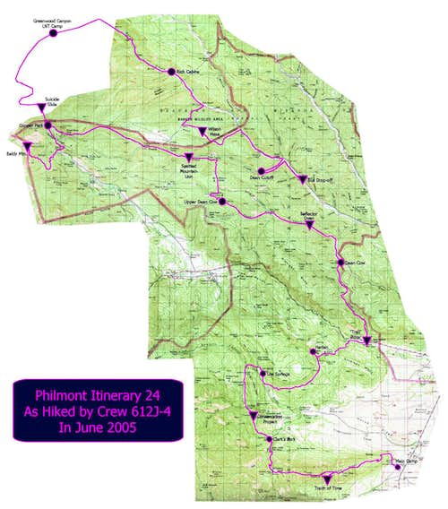 Philmont Itinerary 24