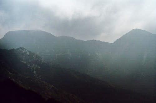 Mt. Markham (L), Mt. Lowe (R)