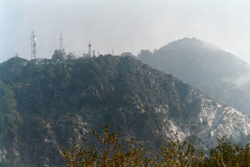 Mt. Disappointment (L),  San Gabriel Pk. (R)