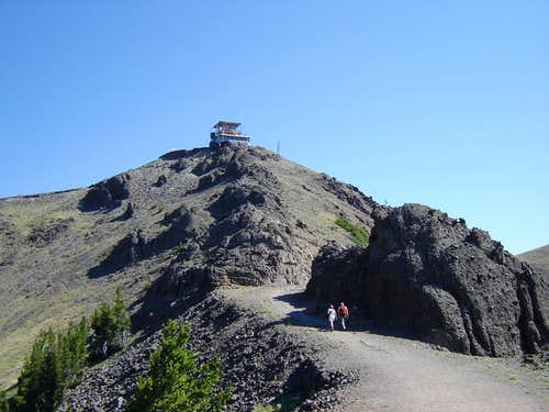 Summit ridge and Fire Lookout