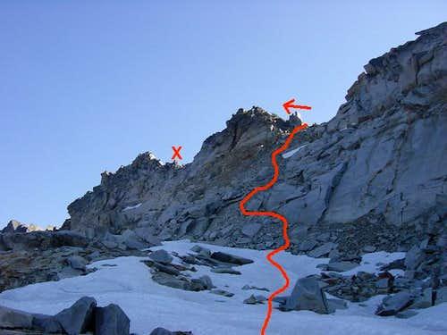 Approaching the summit ridge...